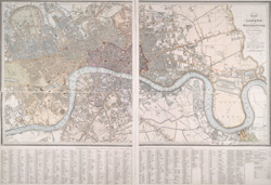 Plan of London and Westminster, with the borough of Soutwark; reduced from the large plan in forty sheets (1836)